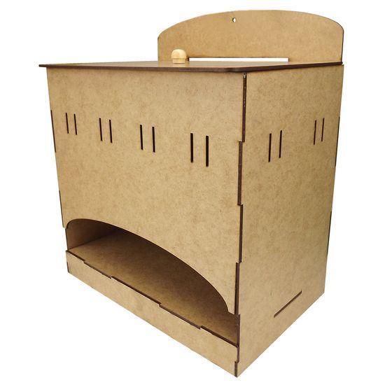 Porta Fraldas em MDF de Encaixe Passa Fitas 24,5x16x21cm - Palácio da Arte