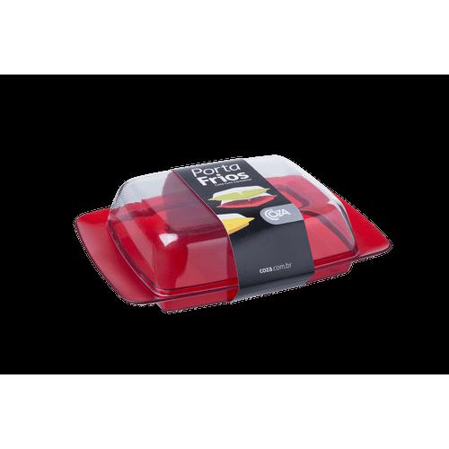Porta-Frios - Retrô 21,6 X 15,8 X 6 Cm Vermelho Transparente Coza