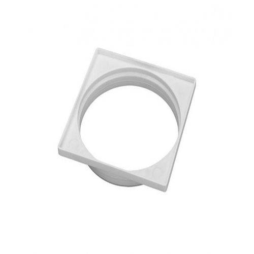 Porta Grelha Quadrada Branca 10x10