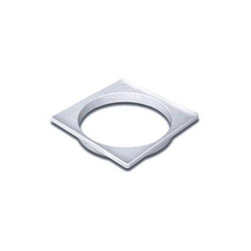 Porta Grelha Quadrada Prata 150mm