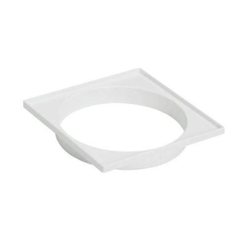 Porta Grelha Quadrado Branco 15x15