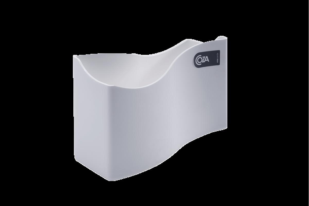 Porta Guardanapo Grande Cozy 18 X 7 X 12 Cm Branco Coza