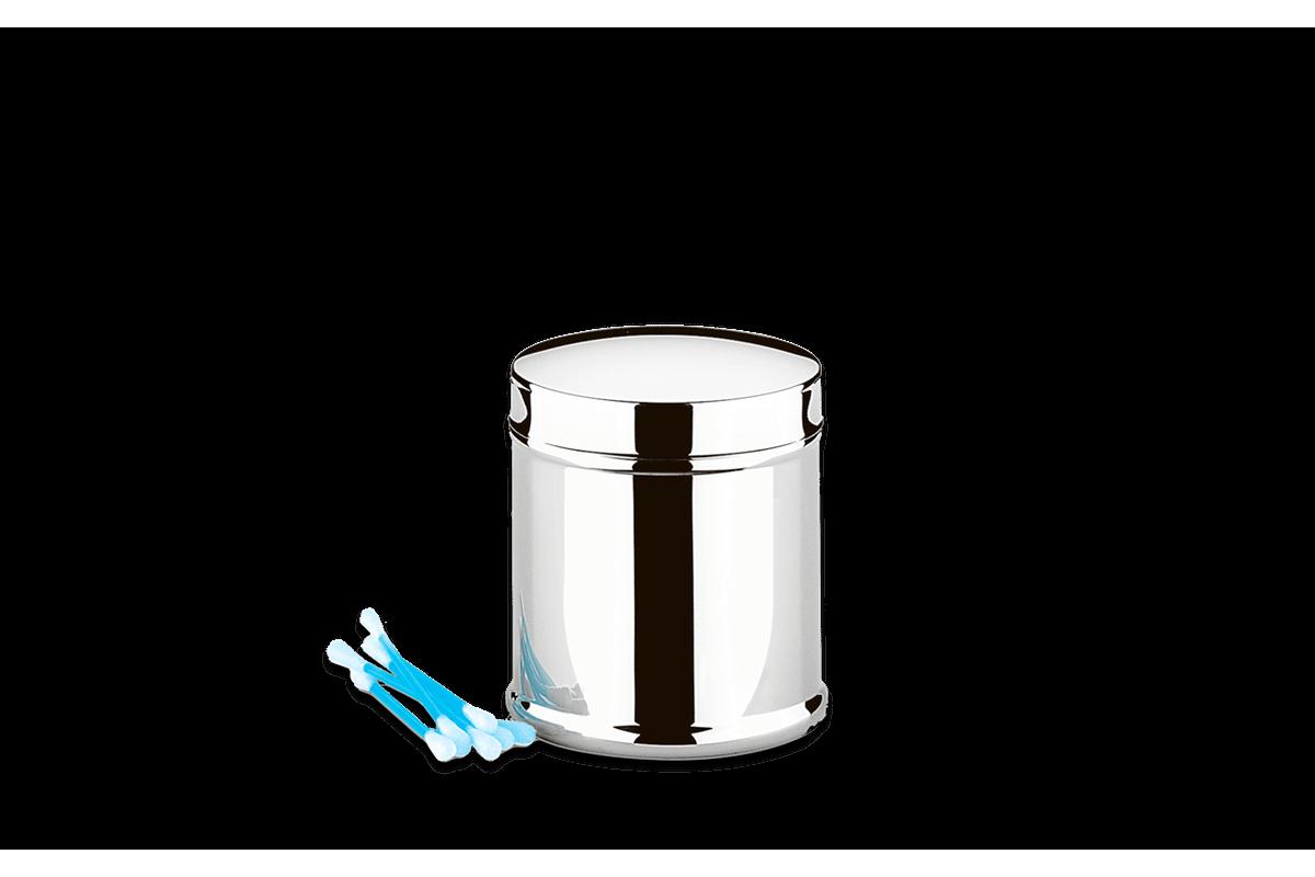 Porta Hastes Flexíveis de Algodão Inox - Decorline Ø 7,5 X 9 Cm