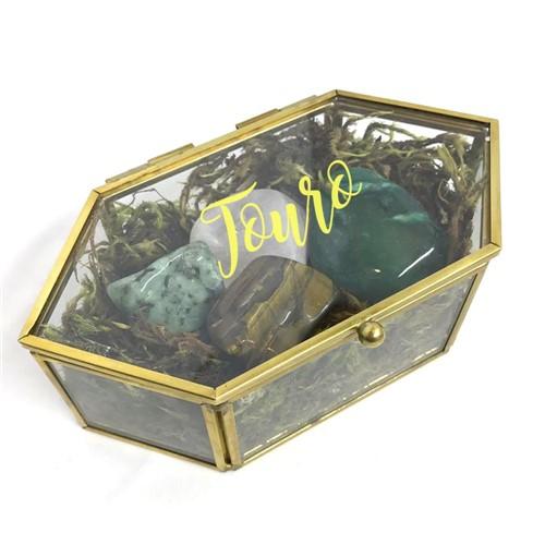Porta-joias Signo Touro + Pedras