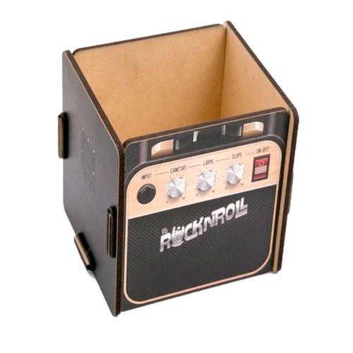 Porta Lápis e Porta Treko Amplificador Rock MDF