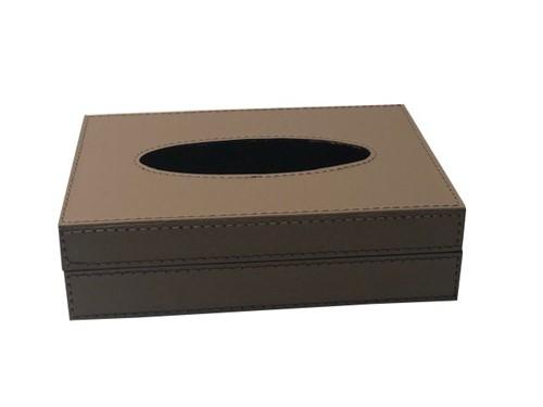 Porta Lenço Marrom 18x13 Cm - Occa Moderna
