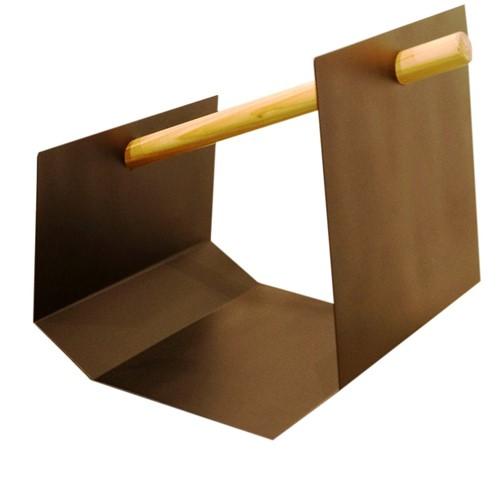 Porta Lenha Preto 40cm - Occa Moderna
