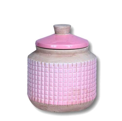 Porta Mantimento Fresno Cerâmica Rosa 17X14CM - 33956