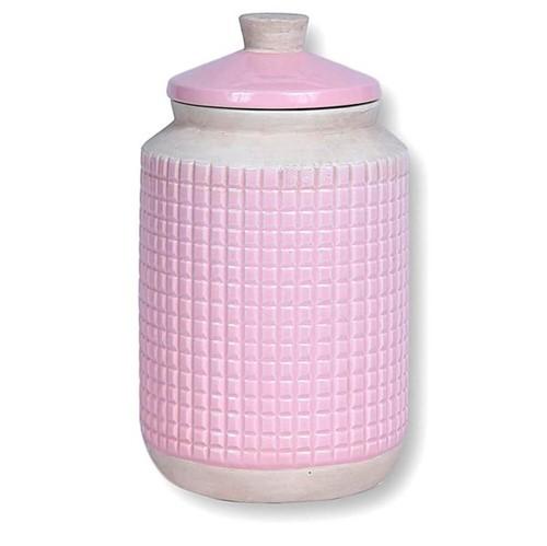 Porta Mantimento Fresno Cerâmica Rosa 24X14CM - 33952