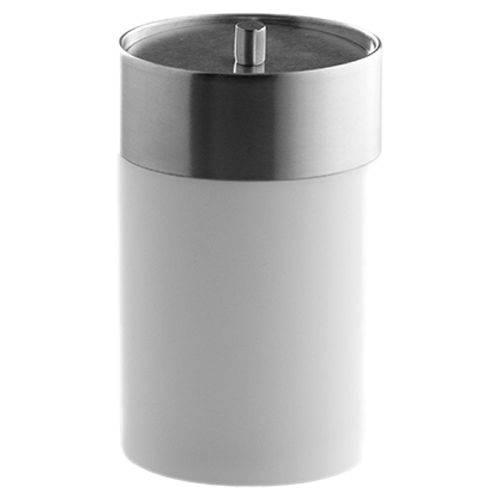 Porta-Objetos para Banheiro com Tampa Astra Soft Touch Branco