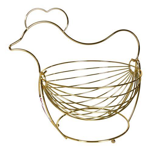 Porta Ovos de Metal Dourado