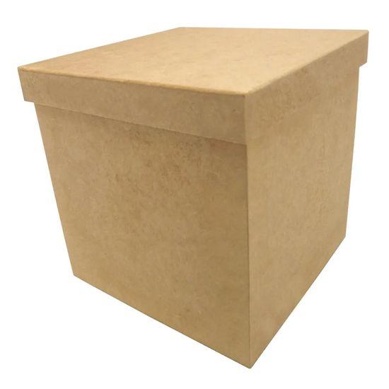 Porta Panetone em MDF Quadrado com Tampa de Sapato Lisa 20x20x20cm Natal - Palácio da Arte