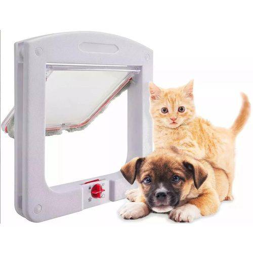 Porta para Gatos Cachorros 4 em 1 Pet Door Passagem Pequena