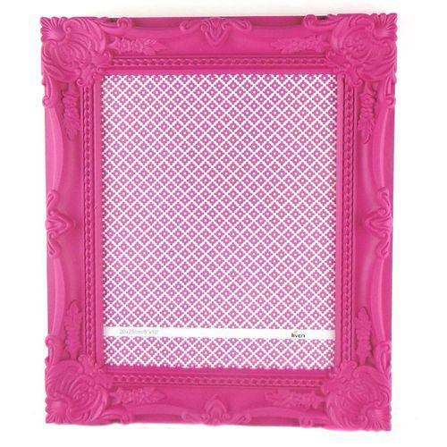Porta Retrato 20x25cm Plastico Queen Rosa