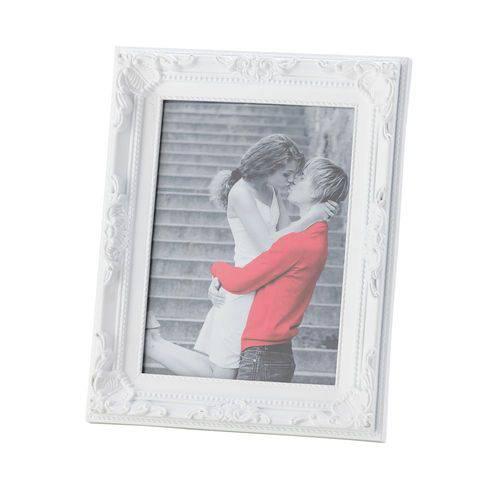 Porta Retrato 10x15 de Plástico Vintage Branco Lyor - L3348
