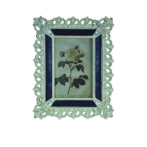 Porta-retrato 10x15 Espelhado Branco Antigo