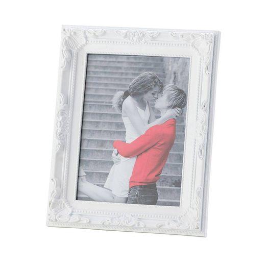 Porta Retrato 10x15 Plástico Vintage Branco 3348 Lyor