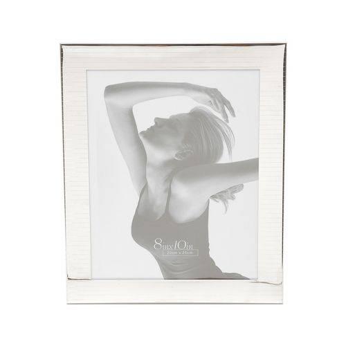 Porta Retrato 10x15cm de Aço Prateado Prestige - R7923