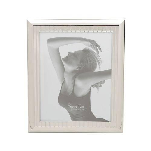 Porta Retrato 10x15cm de Aço Prateado Prestige - R7926