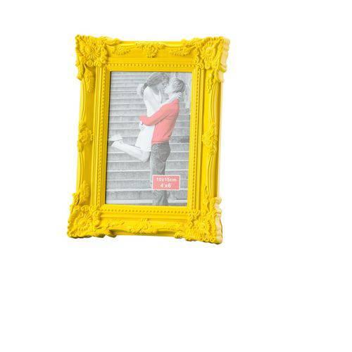 Porta Retrato 13x18 de Plástico Retrô Amarelo Lyor - L3052