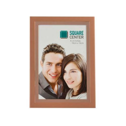 Porta Retrato Aço Rosa 10x15 Cm