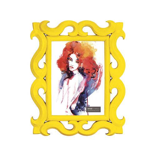 Porta-Retrato Amarelo - 13 X 18 Cm