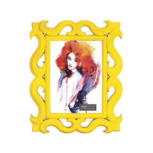 Porta-Retrato Amarelo - 10 X 15 Cm