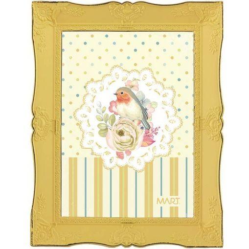 Porta Retrato Amarelo 13X18 Amy 7119 Mart