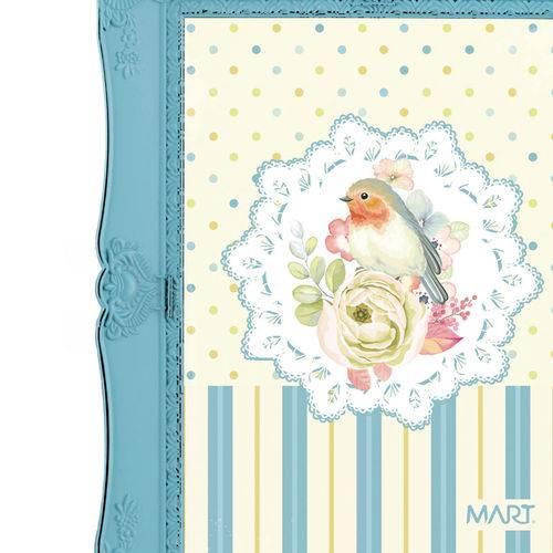 Porta-Retrato Azul Grande 20X25 Amy 7124 Mart
