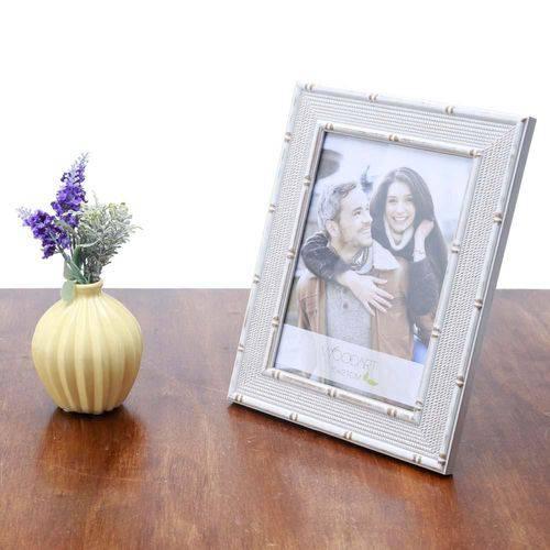 Porta Retrato Bambu Ornamental Branco 10X15 - F9-11880