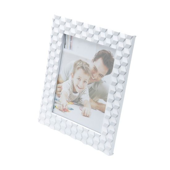 Porta-Retrato Branco de Plástico 13 X 18cm