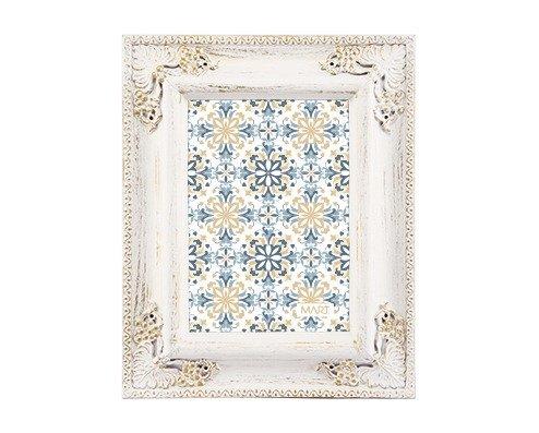 Porta Retrato Branco e Dourado - Compre na Imagina só Presentes