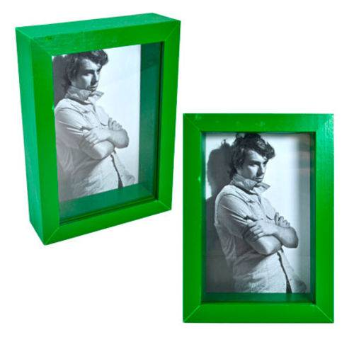 Porta Retrato Caixa Verde 10x15 Cm