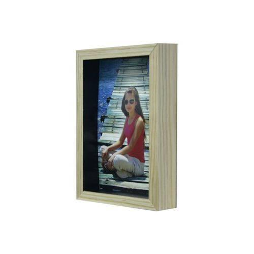 Porta-retrato com Moldura Color Wood 10x15cm Preto