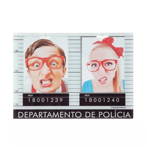 Porta Retrato Criativo Prisão para 2 Fotos