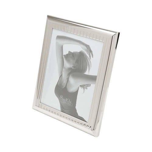Porta Retrato de Aço Prateado 10X15 Cm - F9-7926