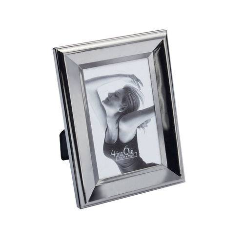 Porta Retrato de Aço Prateado Life 10x15cm 7915 - Prestige