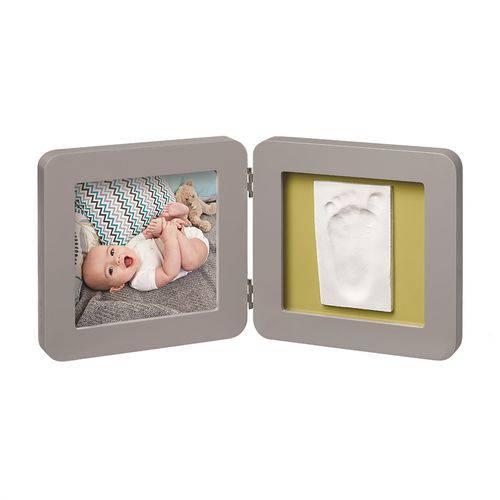 Porta-Retrato de Madeira com Molde Simples Baby Art Grey