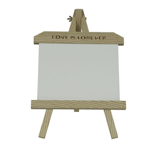 Porta Retrato de Madeira com Placa de MDF Branca para Sublimação - Grande Horizontal Grande
