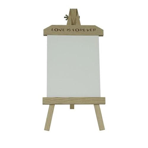 Porta Retrato de Madeira com Placa de MDF Branca para Sublimação - Grande Vertical Grande