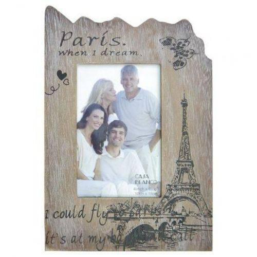 Porta Retrato de Madeira Paris 10x15cm The Home