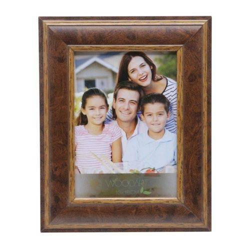 Porta Retrato de Madeira Radica 13cmx18cm Rojemac Marrom