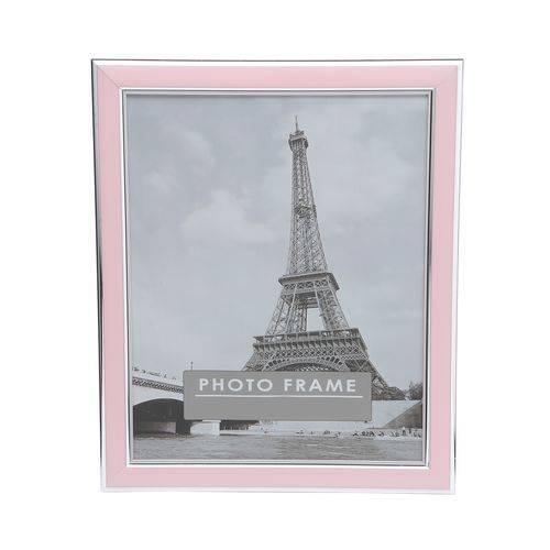Porta Retrato de Plástico Clean 15X21Cm Rosa Prestige