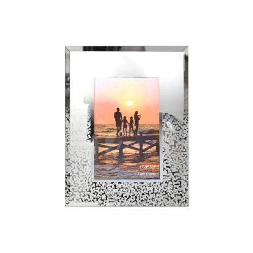 Porta Retrato de Vidro Decorado 10x15 Cm