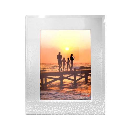 Porta Retrato de Vidro Decorado 15x20 Cm