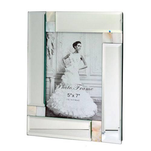 Porta Retrato de Vidro Espelhado 5x7cm