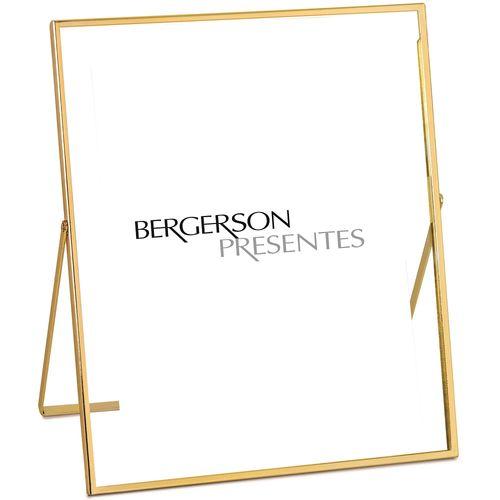 Porta Retrato Dourado em Metal 20x25cm