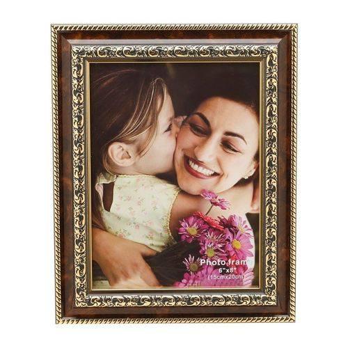 Porta Retrato Dourado para 1 Foto 10x15cm Tree Prestige