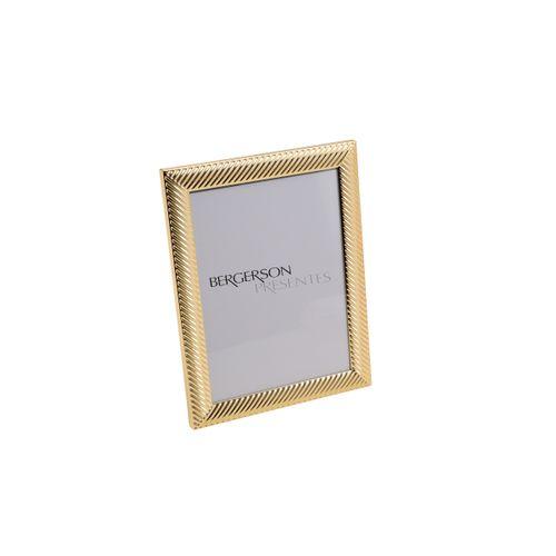 Porta Retrato Dourado Thick Line 13x18cm