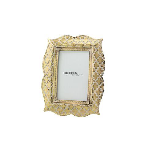 Porta Retrato Dourado Vintage 15x20cm